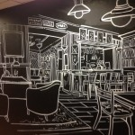 оформление стены, меловая стена, оформление интерьера, рисунок, граффити, художественное оформление, нестираемый рисунок, под заказ, дизайн-проект