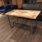 стол, стол под заказ, складной стол, складной стол из дерева, лофт, в стиле лофт, трубы, основание из труб, под заказ, дизайн-прокт, столешница из дерева
